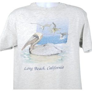 Long Beach California T Shirt Size L Vintage 1991